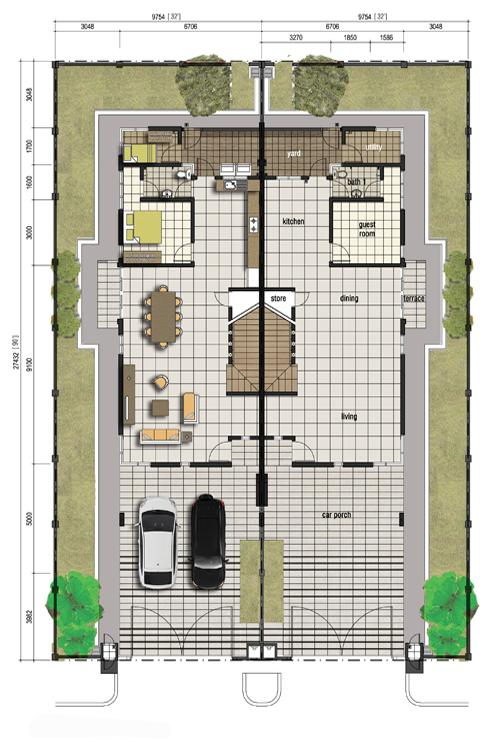 Citrine double storey semi detached plans joy studio for Semi detached plans