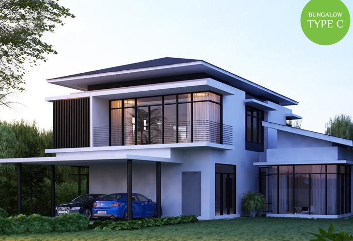 Harmony park 2 storey bungalow natura heights dengkil for Two storey bungalow