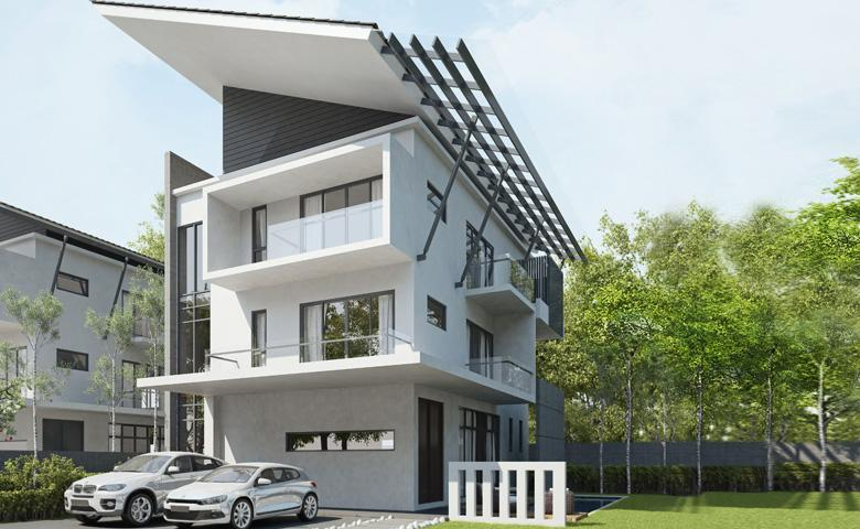 Sterling Villas 3 Storey Zero Lot Bungalow Taman Impian
