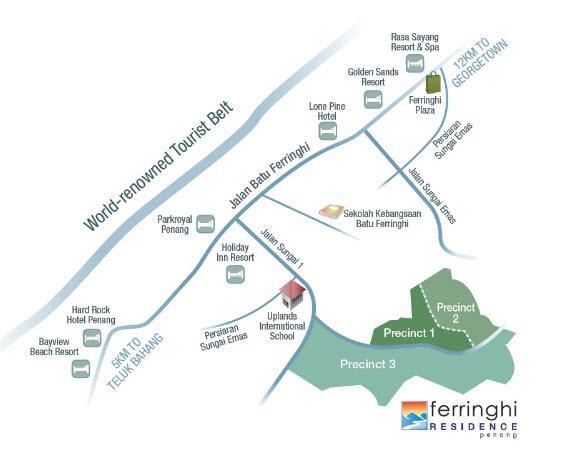 Ferringhi Residence Precinct 1 Condo Villas Batu